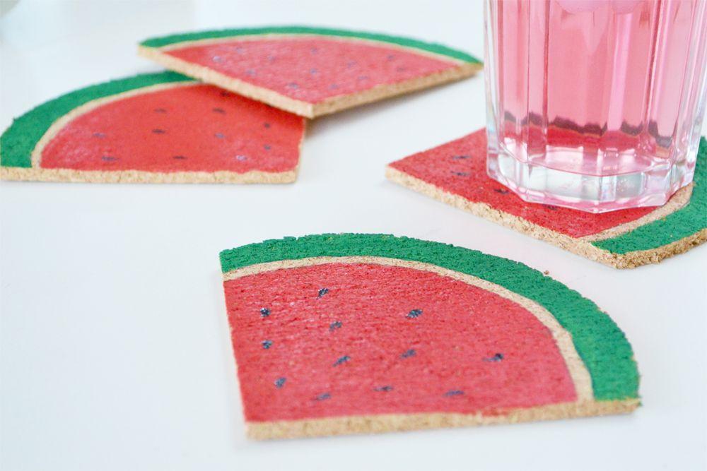 Fresh DIY Watermelon Coasters