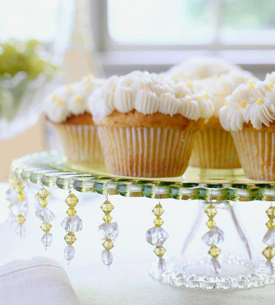 Glass Beads Cake Stand