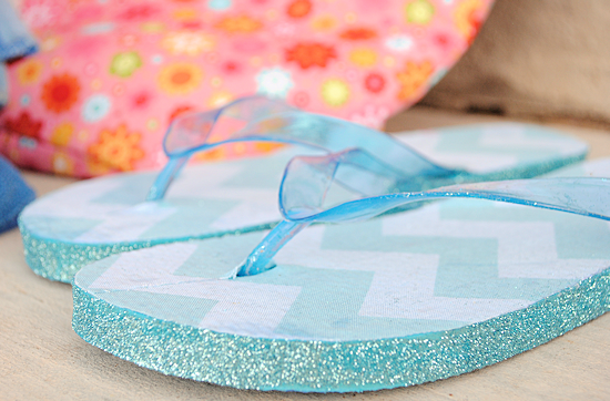 Glitter Flip Flop DIY