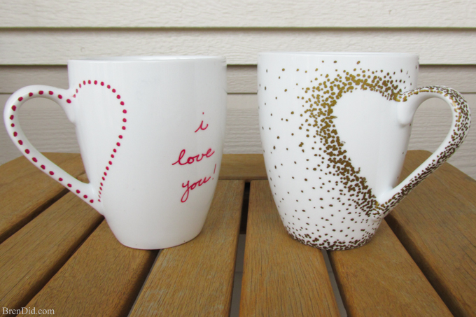 Heart Sharpie Mug DIY