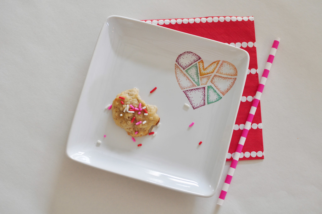 Heart Sharpie Plate DIY