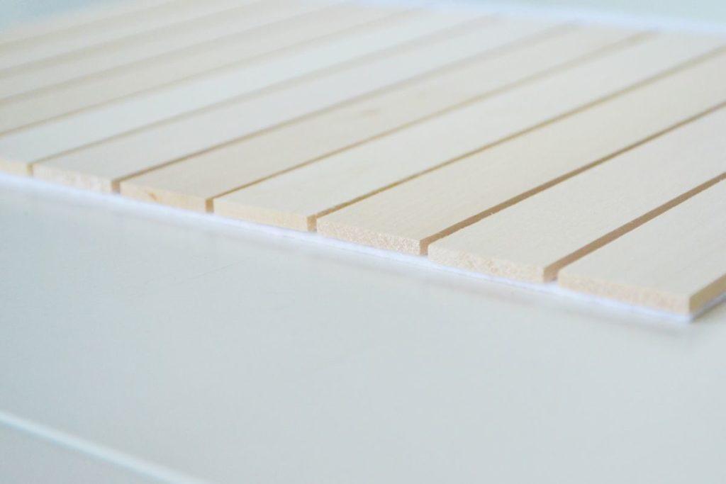 Heat Trivet from Balsa Wood Slats Edge