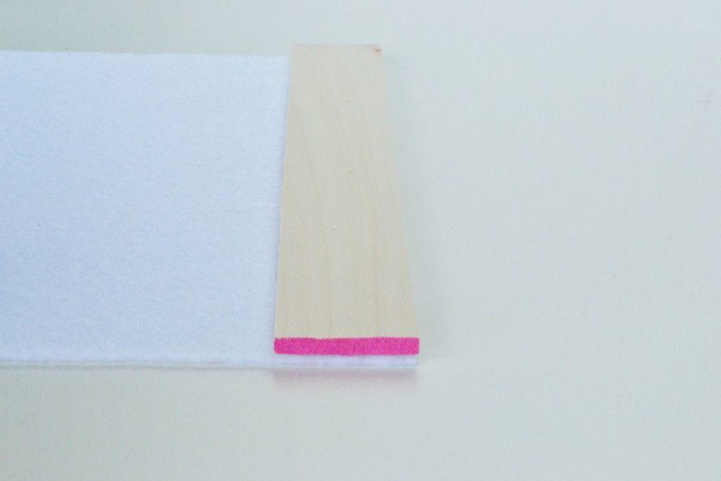 Heat Trivet from Balsa Wood Slats Glue