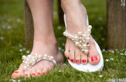 Jeweled Flip Flops