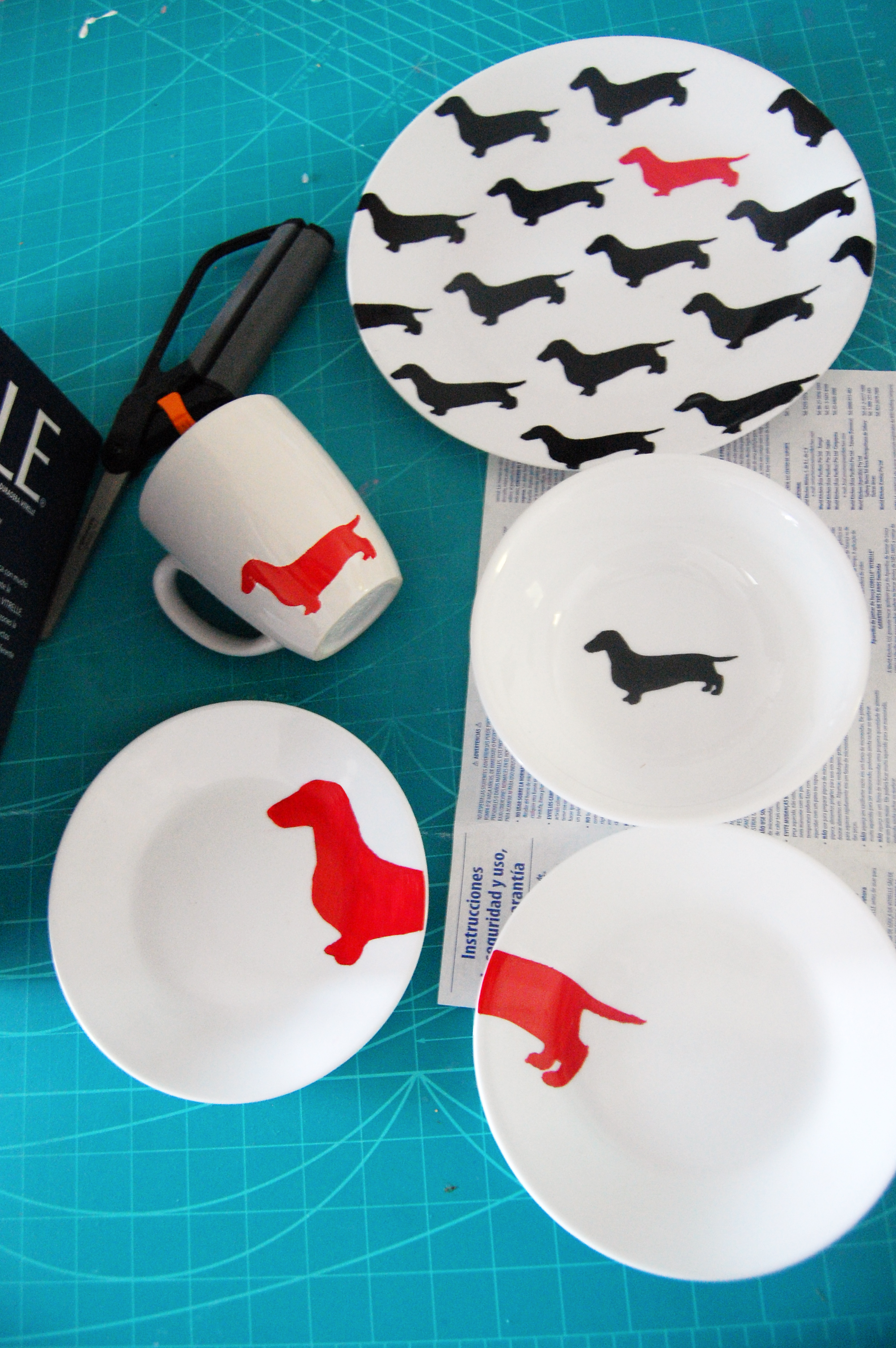 Kate Spade Inspired Sharpie Plate