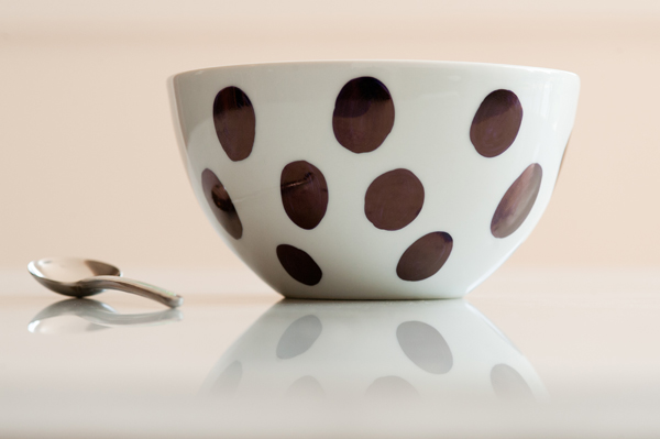 Large Polka Dot Bowl DIY