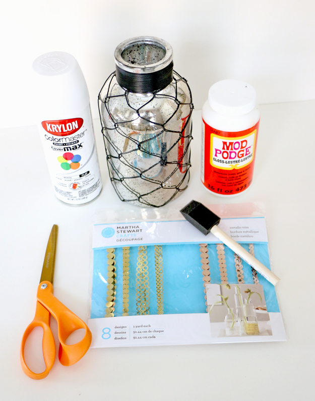 Materials to update a flower vase