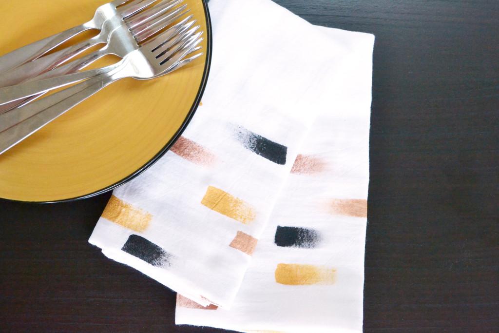 Personalized Brush Stroke Napkins Finished
