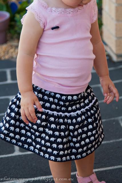 Pockets Black Skirt