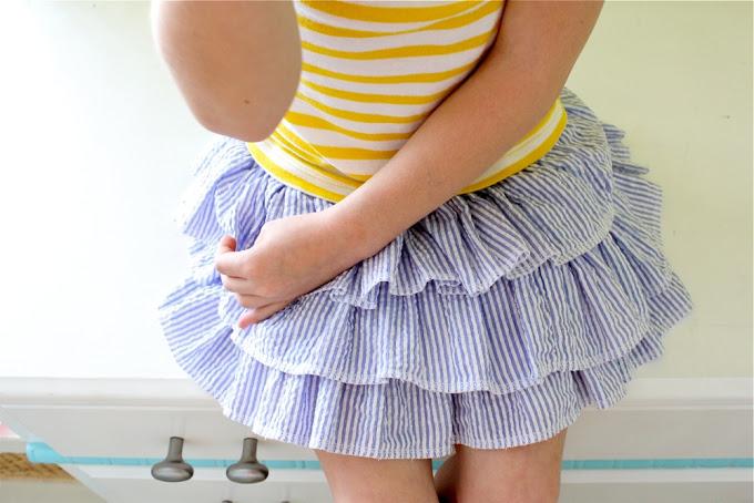 Ruffle-Layers Skirt