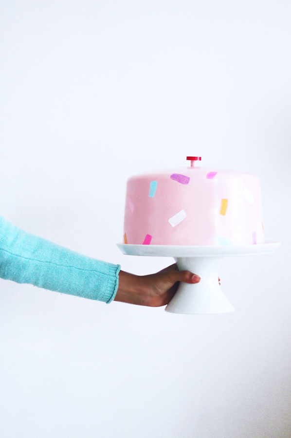 Sprinkle Hat Cake Stand