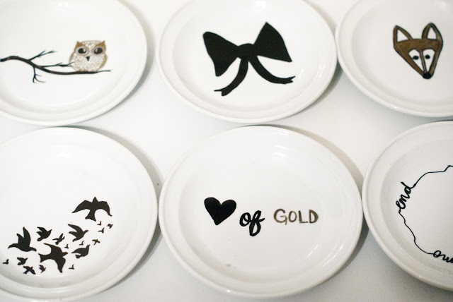 Trendy DIY Sharpie Plate Designs