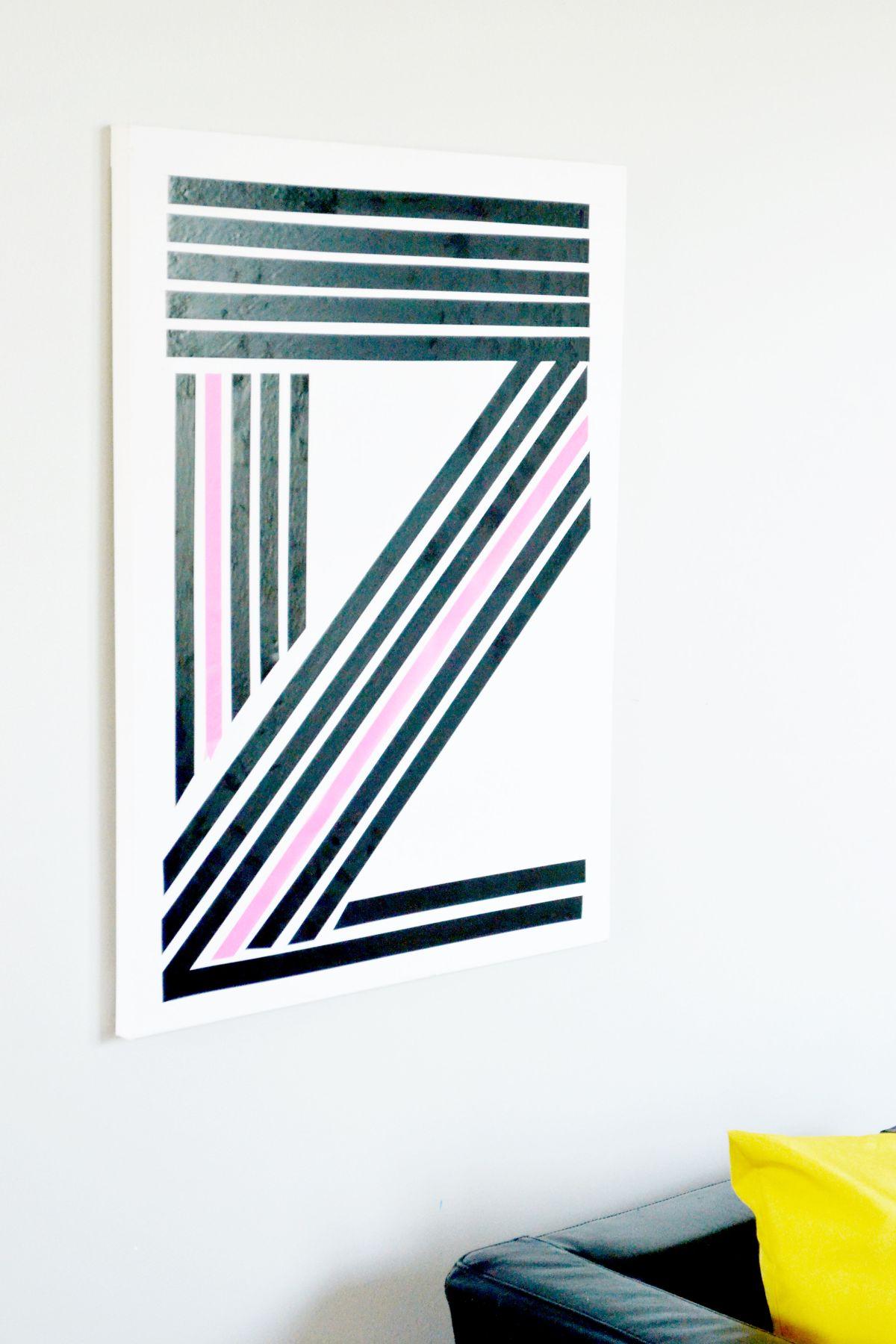 Washi tape linear art