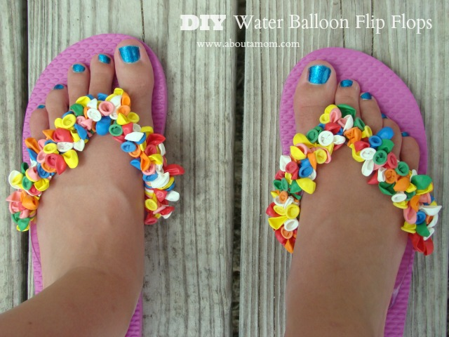 85a67f8aaddc6a Water Balloon Flip Flop DIY. Fun and festive ...