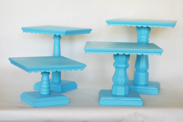 Wood Scallops Cake stands & 50 Gorgeous Do-It-Yourself Cake Stands