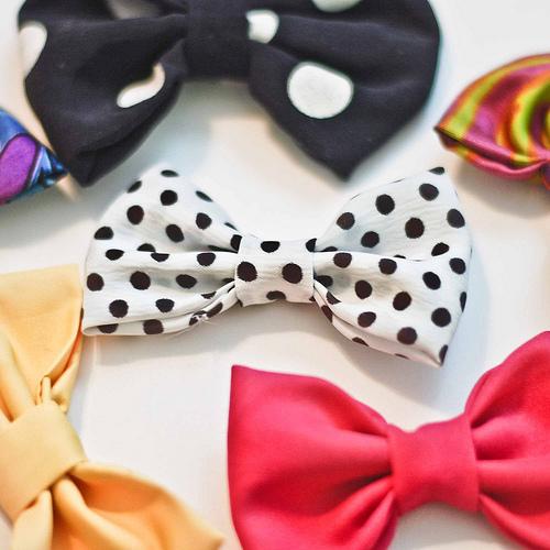 fabric scrap bows