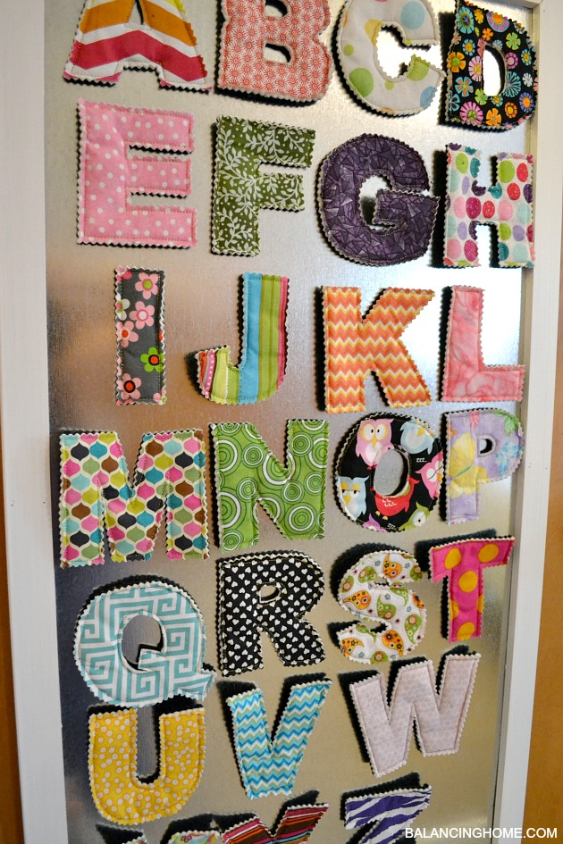 Fabric Magnetic Alphabet