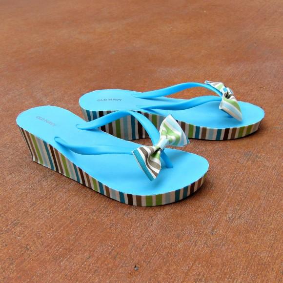 mod podge flip flop DIY
