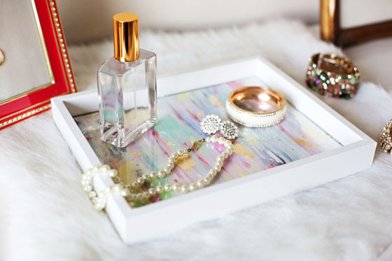 Colorful Picture Frame Jewelry Tray