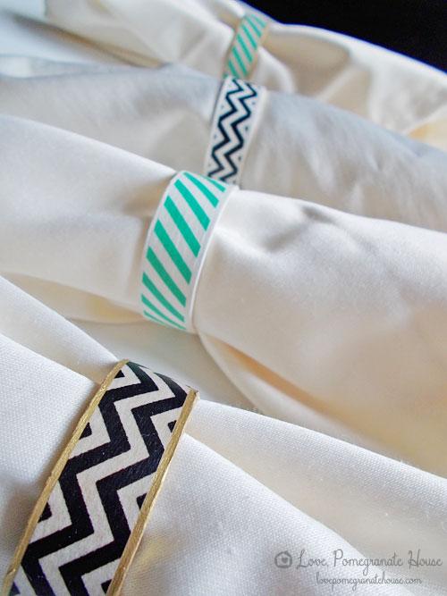 washi napkin rings