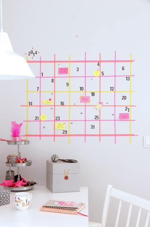 washi wall calendar