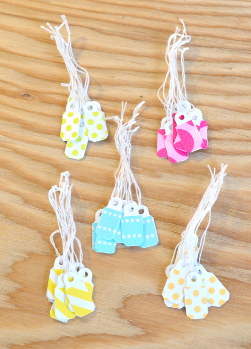 Washi tape tags