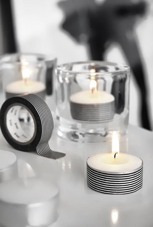 washi tea light candle