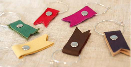 leather wine tags