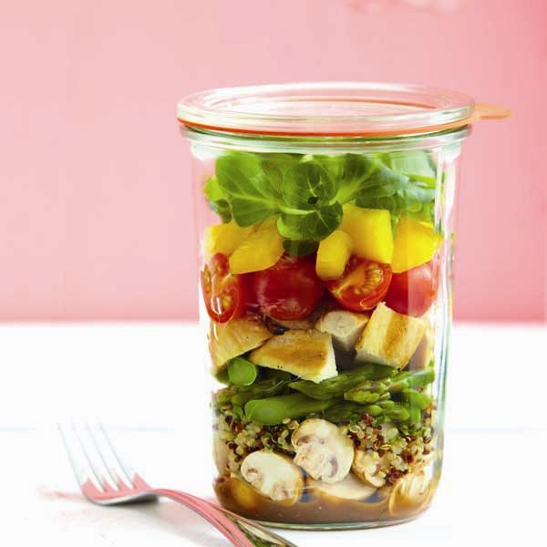Balsamic Grilled Chicken Salad Mason Jar
