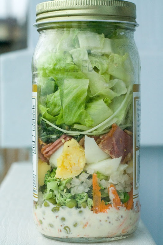 Cobb Salad in A Mason Jar