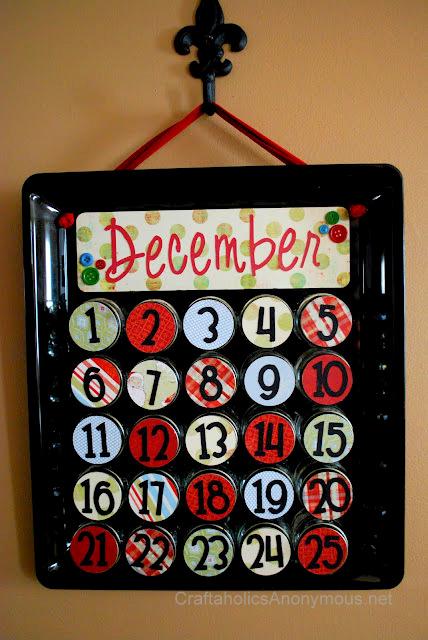 DIY Baby Food Jar Advent Calendar