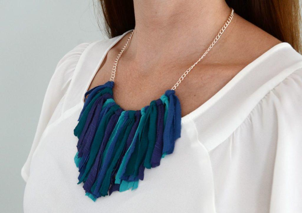 DIY Fashion Fringe necklace