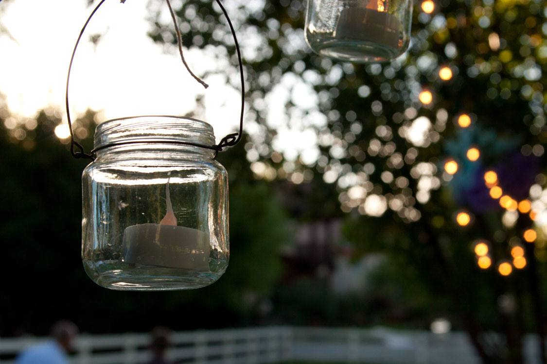 DIY Food Jar Lanterns