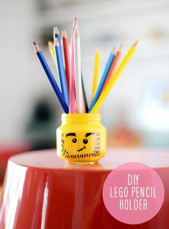 DIY Food Jar Pencil Holder