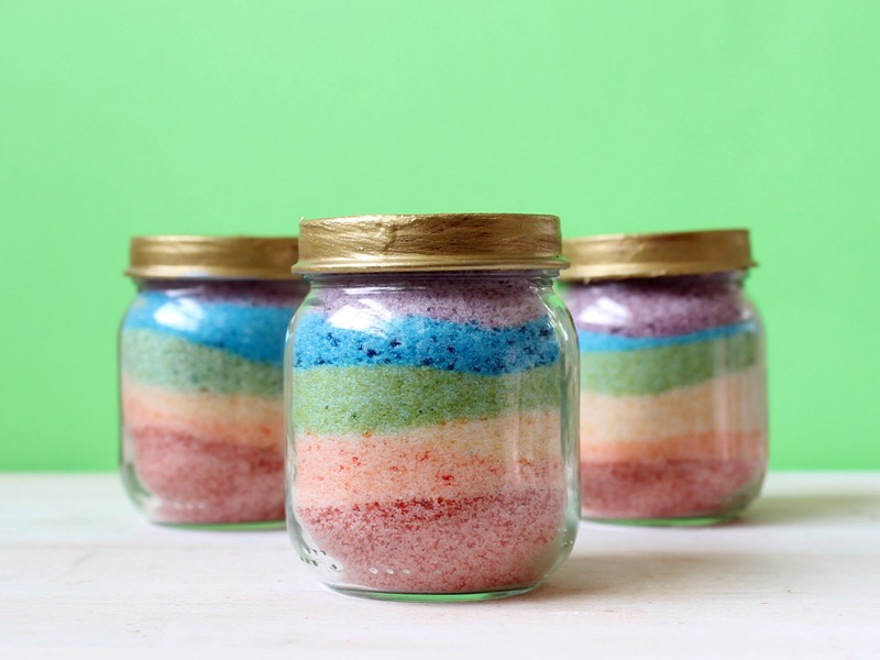DIY Food Jar Sand Art