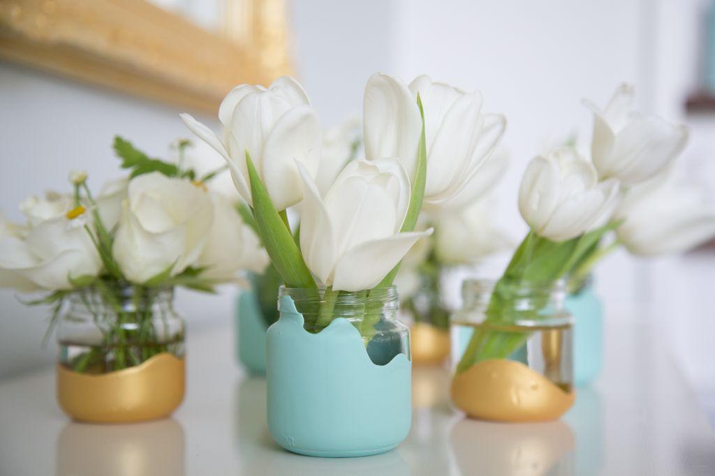 DIY Food Jar Vases
