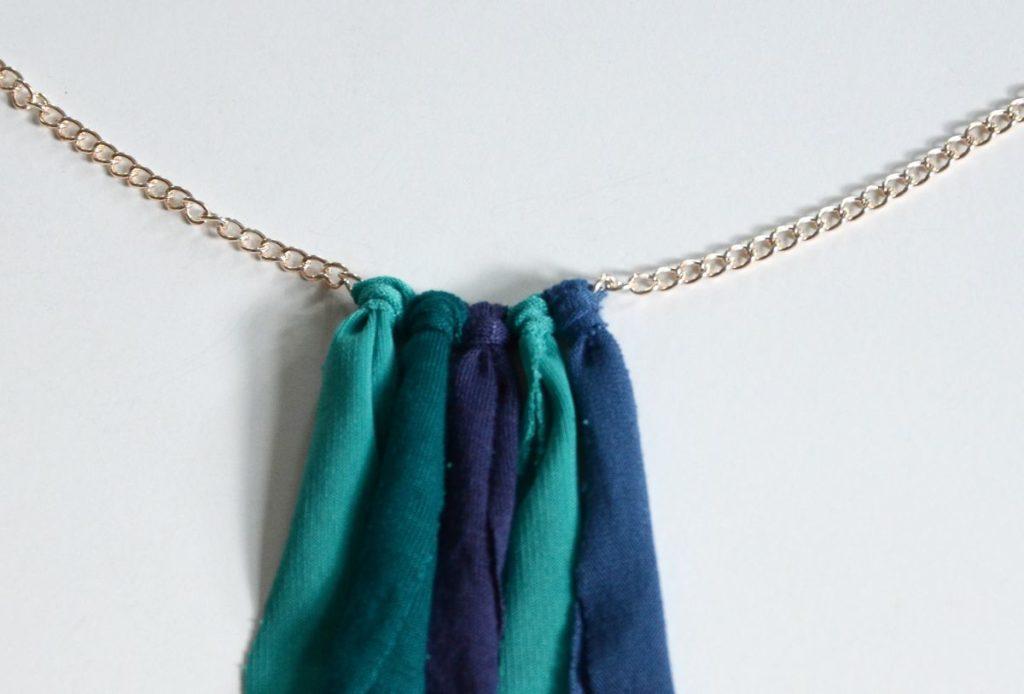 DIY Fringe necklace