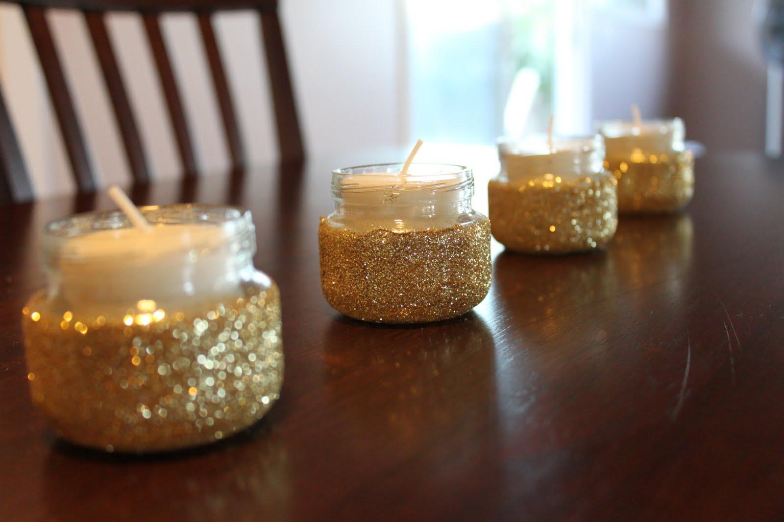 DIY Glitter Baby Food Jar