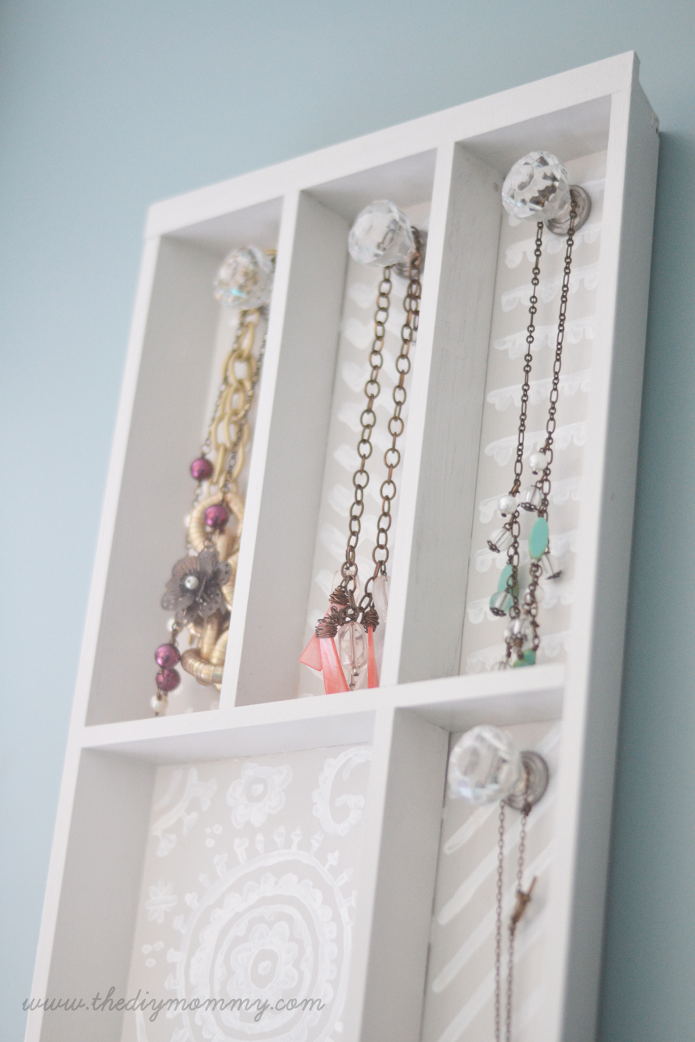 DIY Jewelry Holder CUtlery drawer
