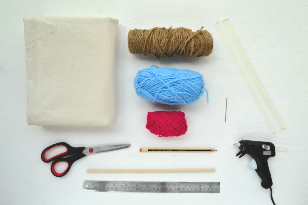 Diy jute wall hanging for Wall hanging with waste material