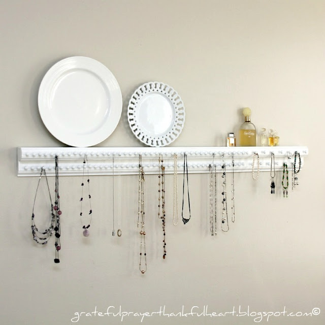 DIY Necklace Shelf