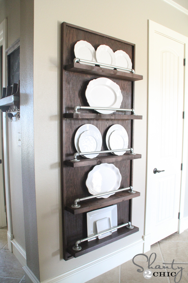 DIY Pipe Plate Rack