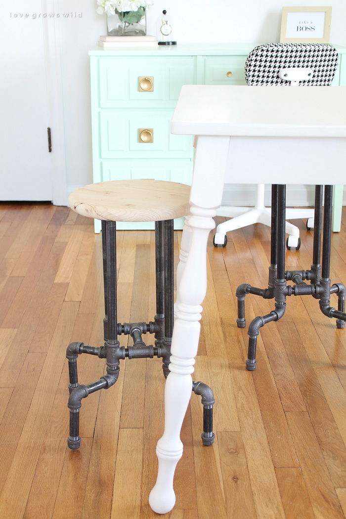 DIY Pipe Stools
