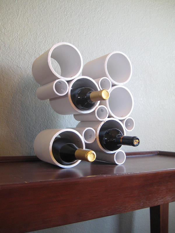 DIY Pipe Wine Rack