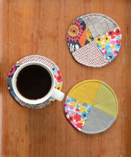 Free Sewing Pattern Circle Coasters