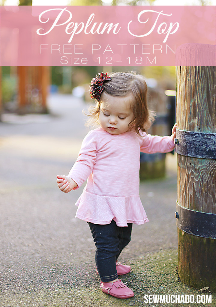Free Sewing Pattern Girls Peplum Top