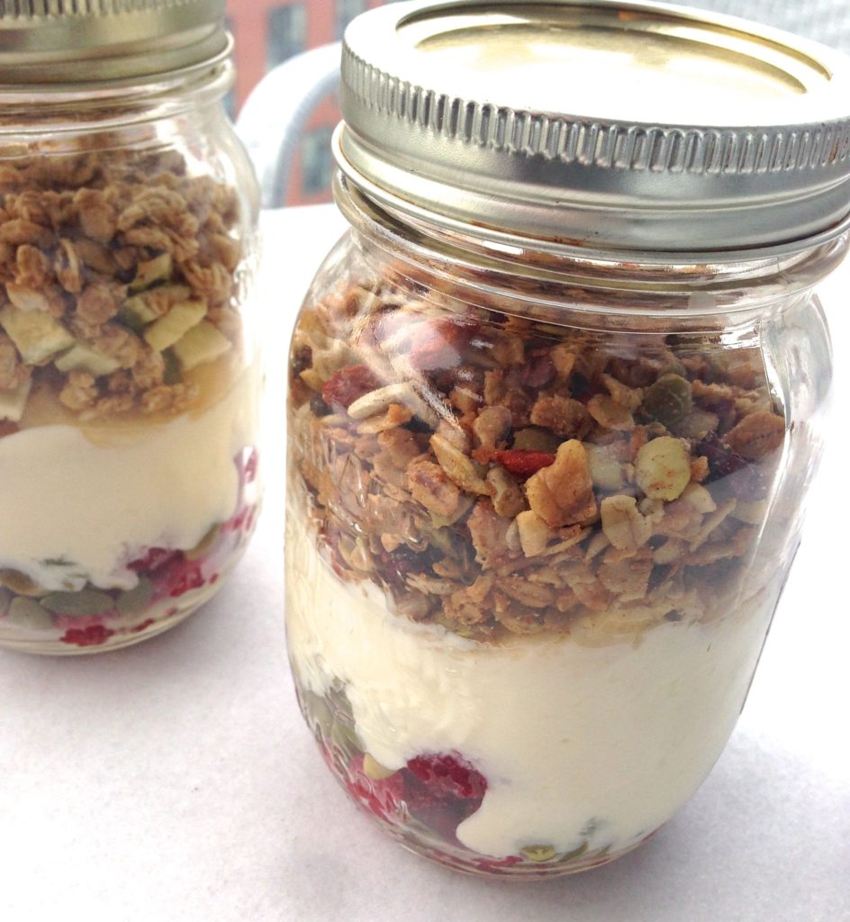 Granola Bar Breakfast Mason Jar