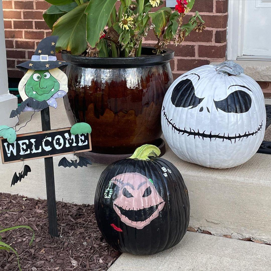 Halloween pumpkin painting ideas the nightmare before christmas