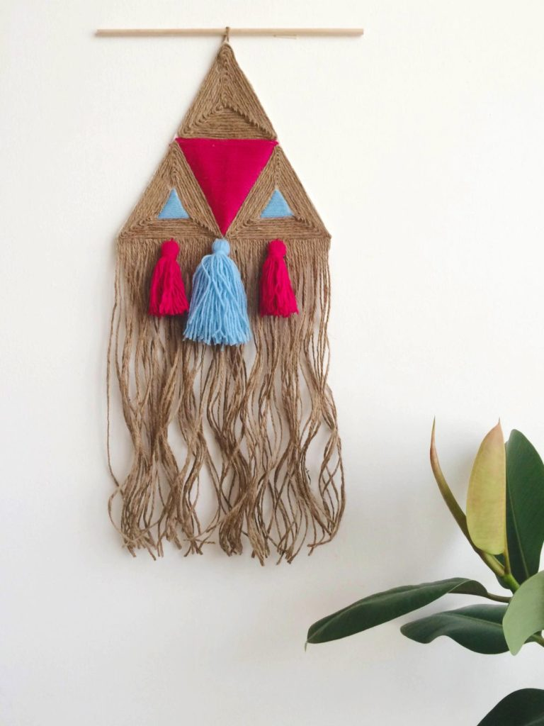Jute wall hanging project