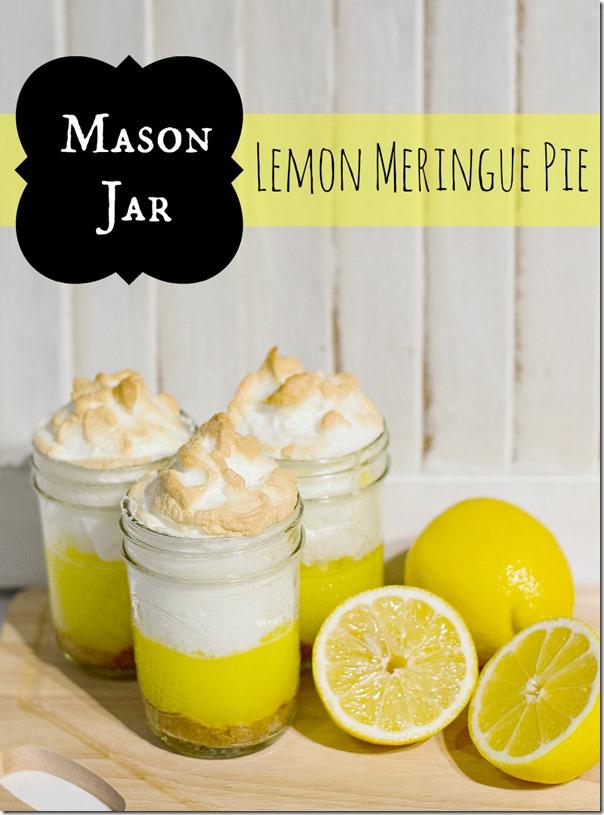 Lemon MErigue Pie in a Jar